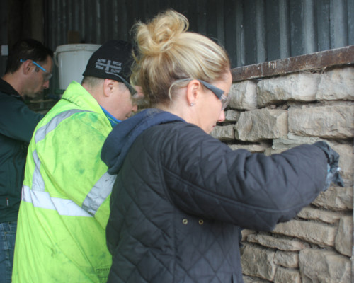 Learning lime skills on CAfS Green Build Festival course