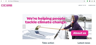 10:10 Climate Action website