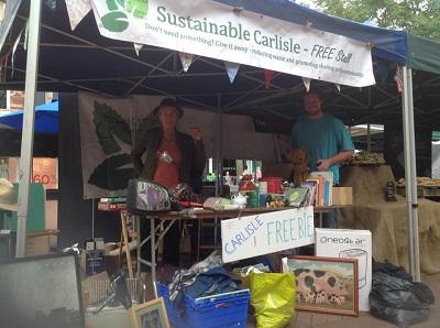 Sustainable Carlisle freebie stall