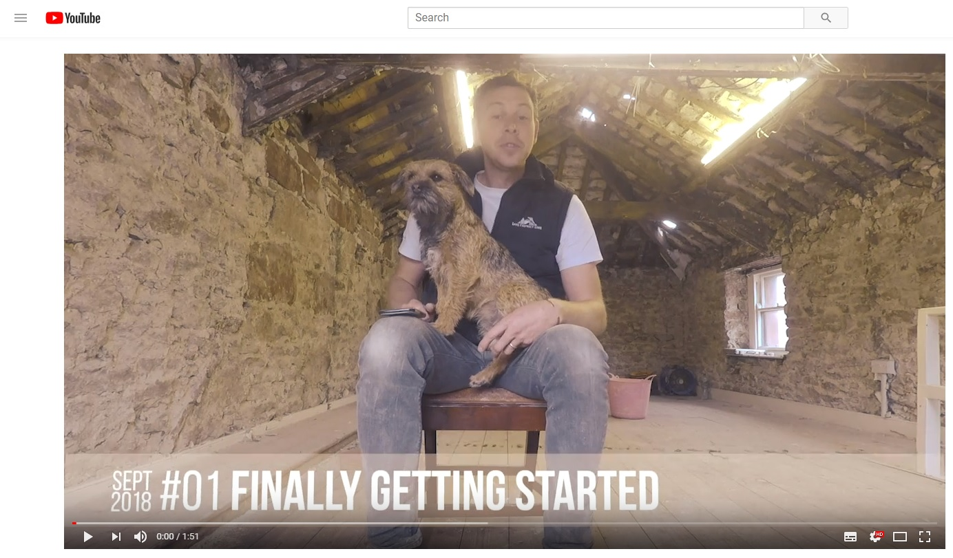 Screen shot showing first vlog from 33a Chapel St renovation