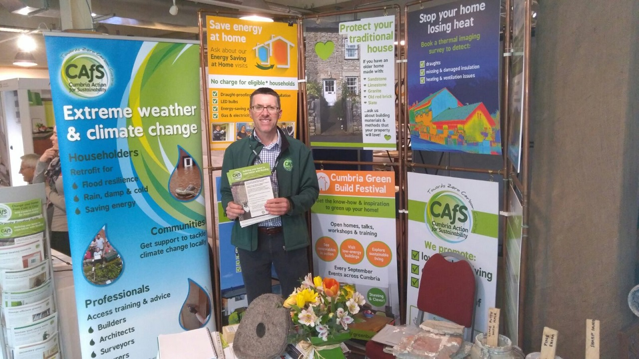 Andrew Northcott on CAfS stand at Home & Garden Show 2018