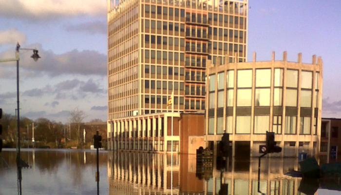 Flooding at Civic Centre Carlisle