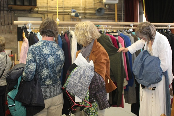 Shoppers at CAfS Preloved Quality Clothes Sale