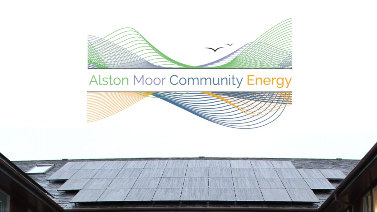 AMCE logo and solar panels
