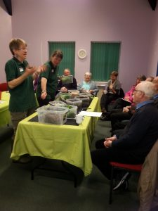 Alston Moor residents learning about composting at a workshop by Garden Organic - part of Alston Moor Greenprint by CAfS