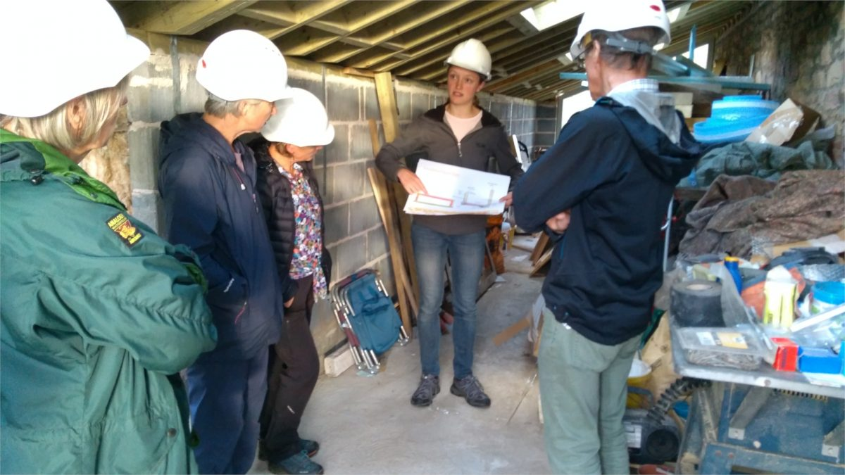 Visitors learn about building works during CAfS Cumbria Green Build Festival 2018
