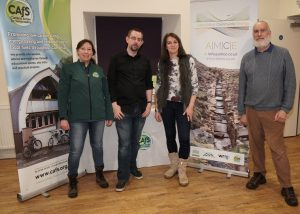Celebrating the launch of Alston Moor Community Energy are directors and Roe Baker from CAfS