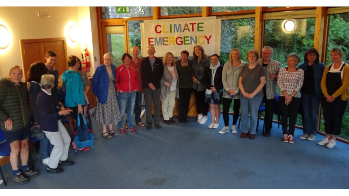 Members of the Amblesize to Zero group, part of Ambleside Action for a Future, following the announcement of support from South Lakeland District Council for their goal to cut carbon emissions in the town