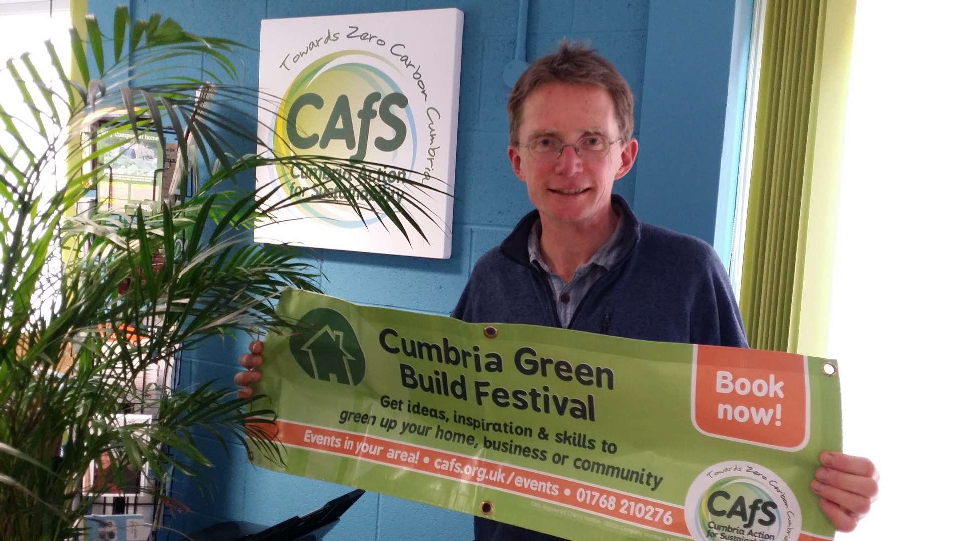Nigel Jenkins, Cumbria Green Build & Sustainable Living Festival Coordinator at CAfS