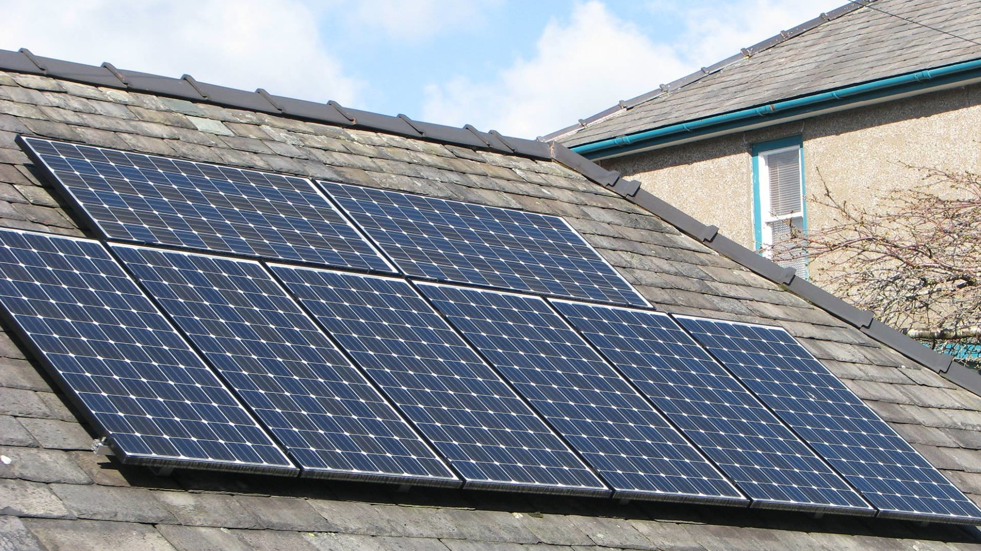 Solar panels on Cumbrian roof - 1920x1080