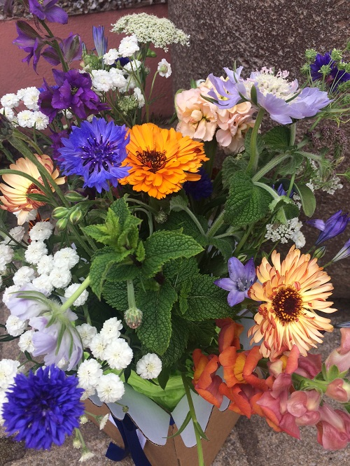 A bouquet of local wildflowers, herbs and foliage by Fellside Flower Company