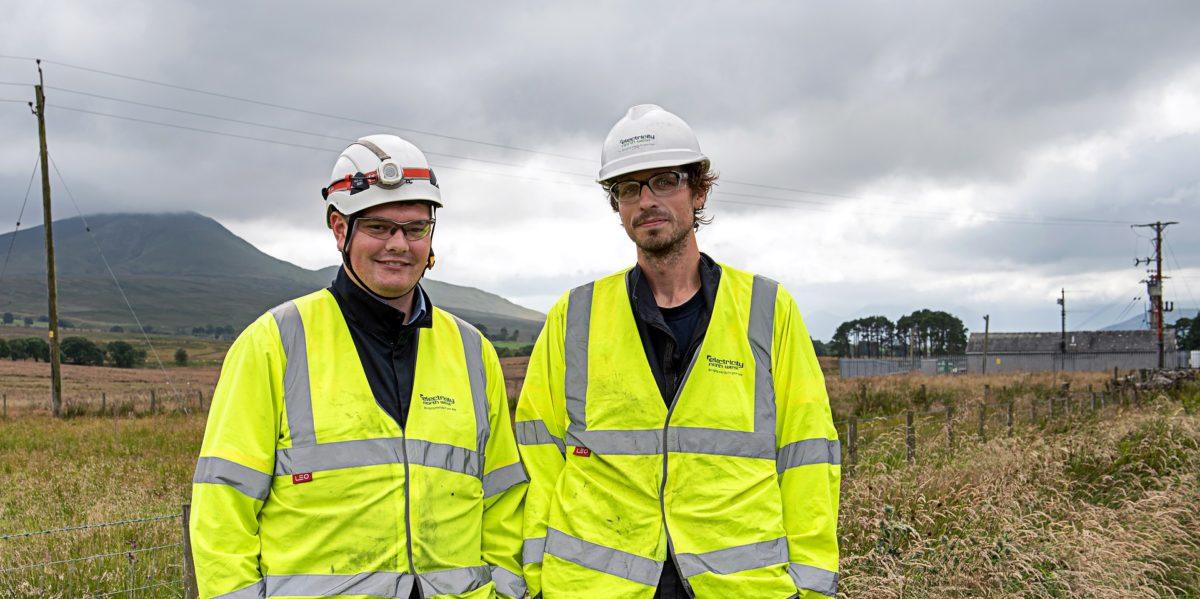 Electricity North West staff at Troutbeck, Cumbria