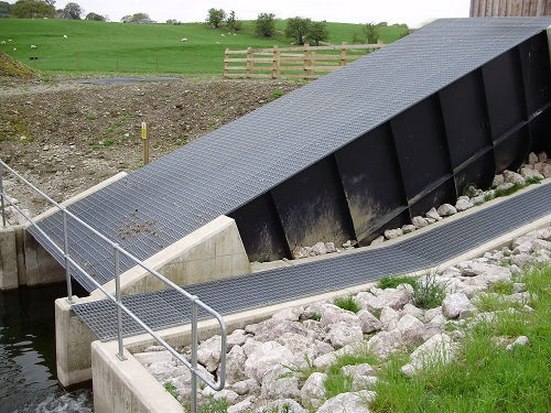 Close up of the hydro scheme at James Cropper PLC