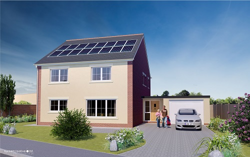 Open home: Visit a new-build Passivhaus with solar electric heating - 1pm