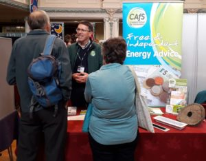 Andrew Northcott from CAfS advising on saving energy