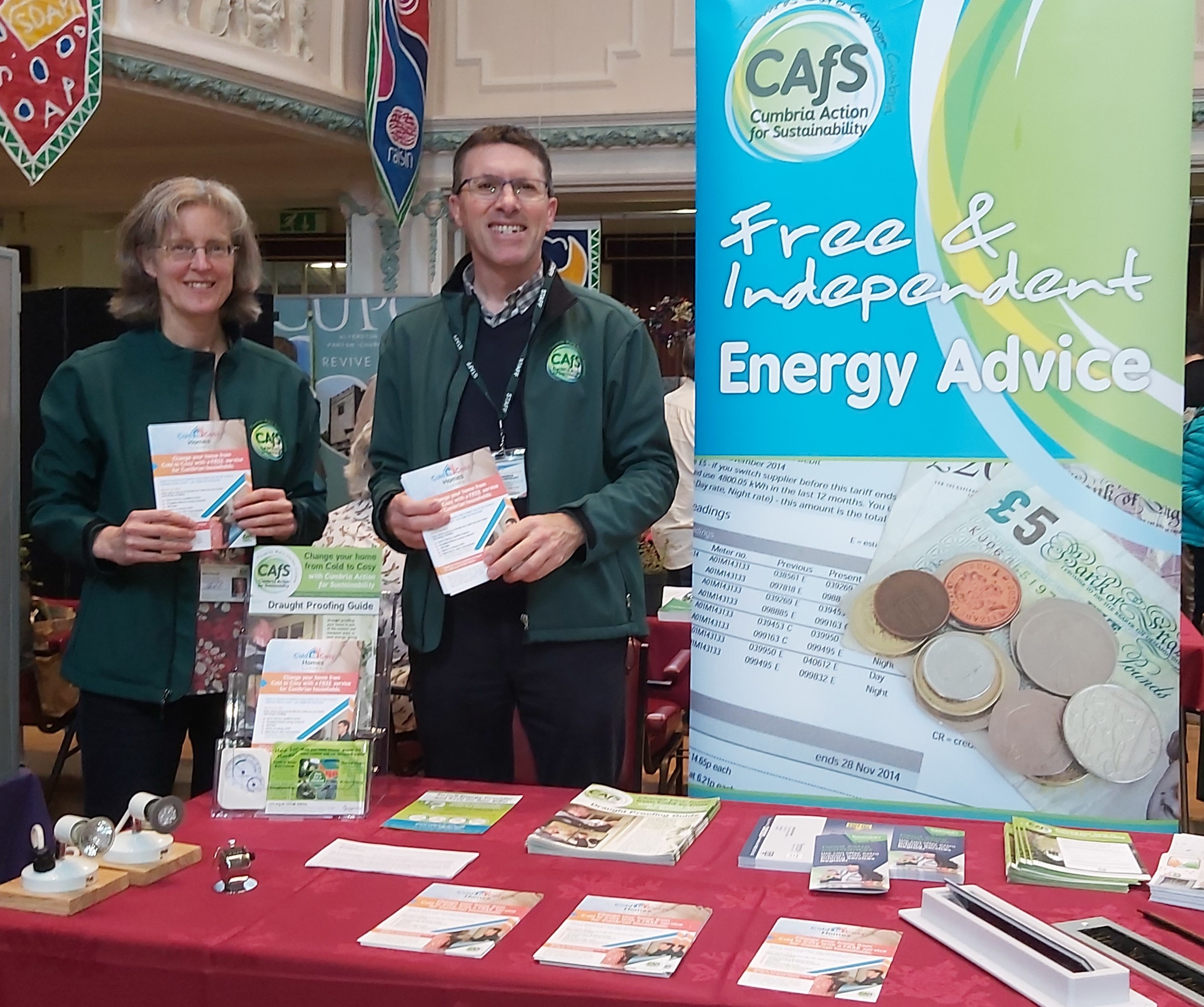 Tina & Andrew from CAfS at Ulverston Eco Fair