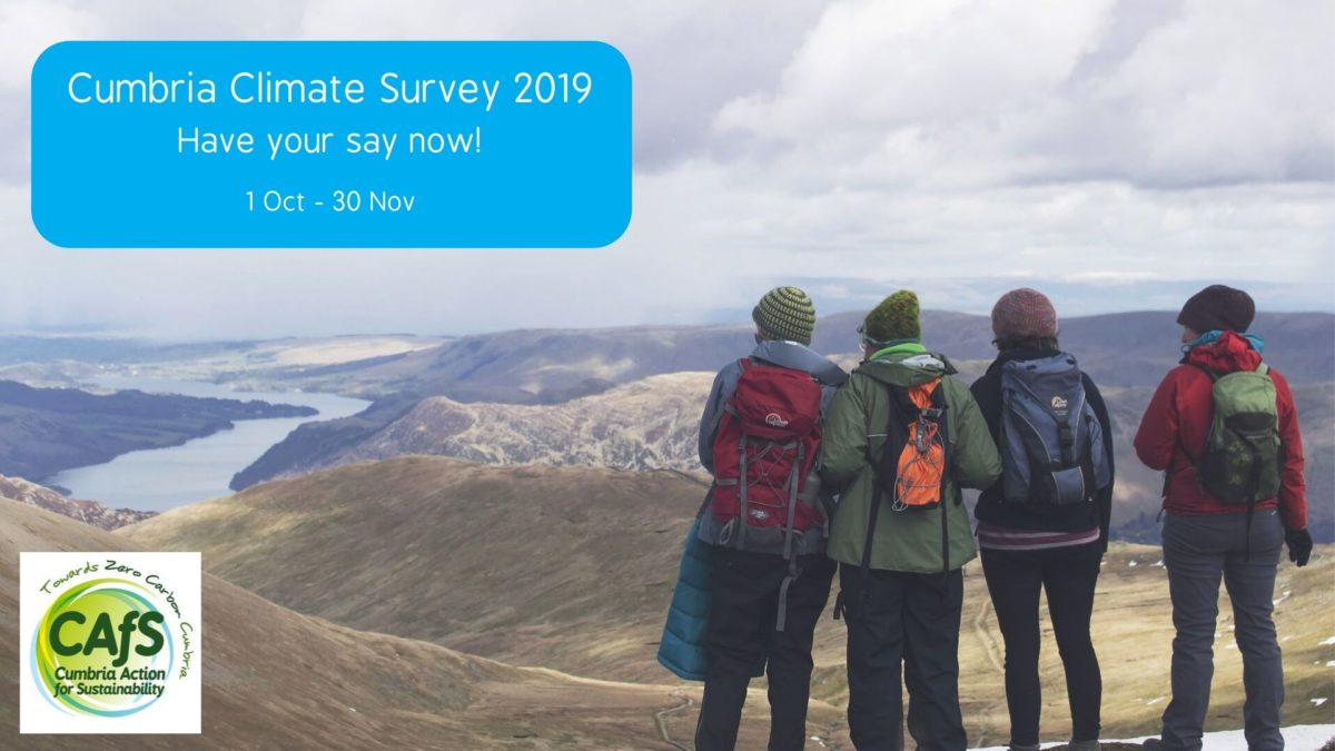 Cumbria Climate Survey 2019 graphic