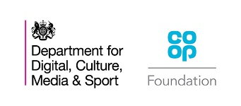 Logos for Space to Connect funding: Department for Digital, Culture, Media & Sport, and the Co-op Foundation