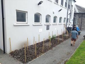 Incredible Edible Ambleside volunteers preparing a new community growing area
