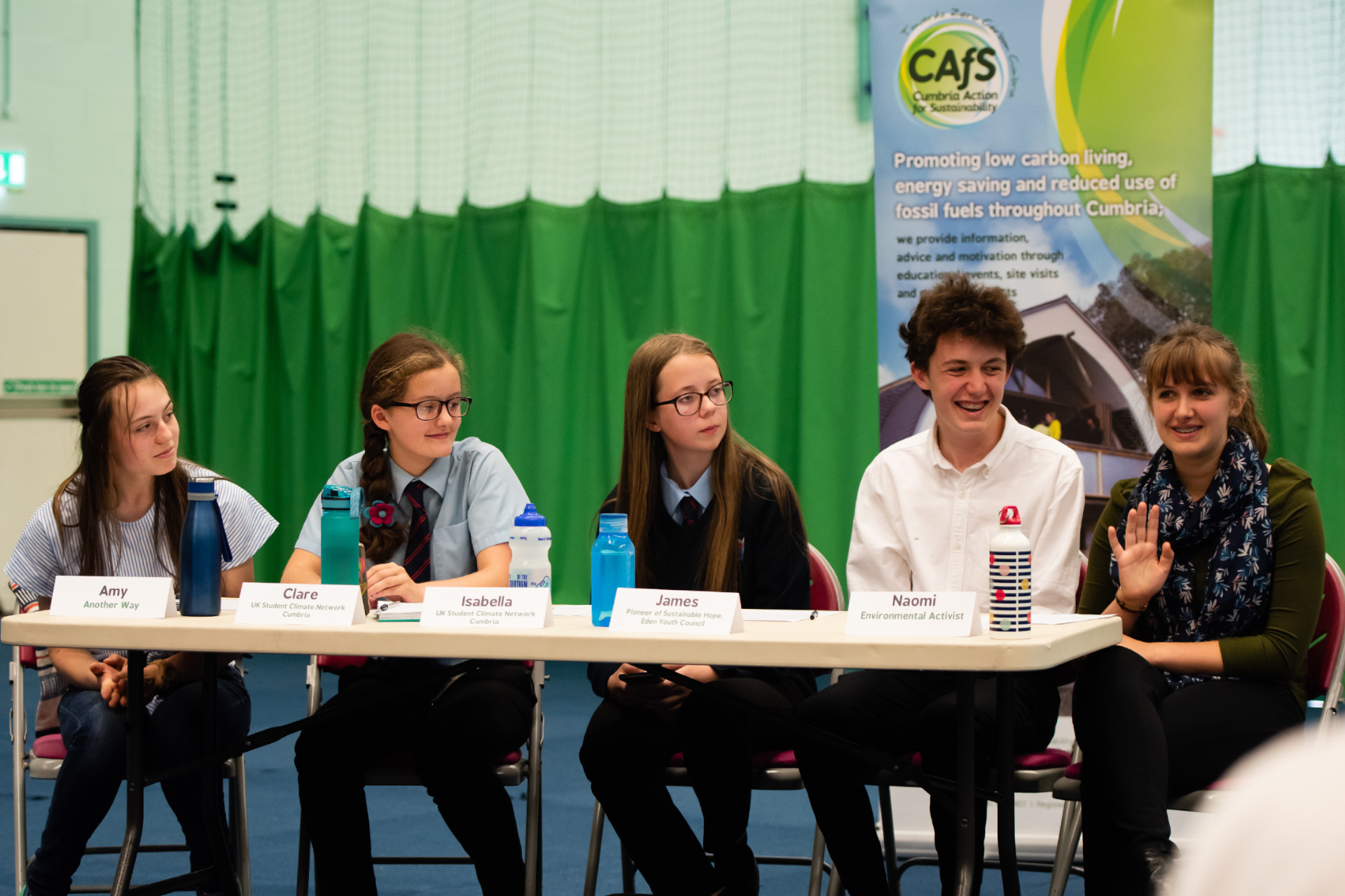 Panel of young people at CAfS Youth Climate Question Time