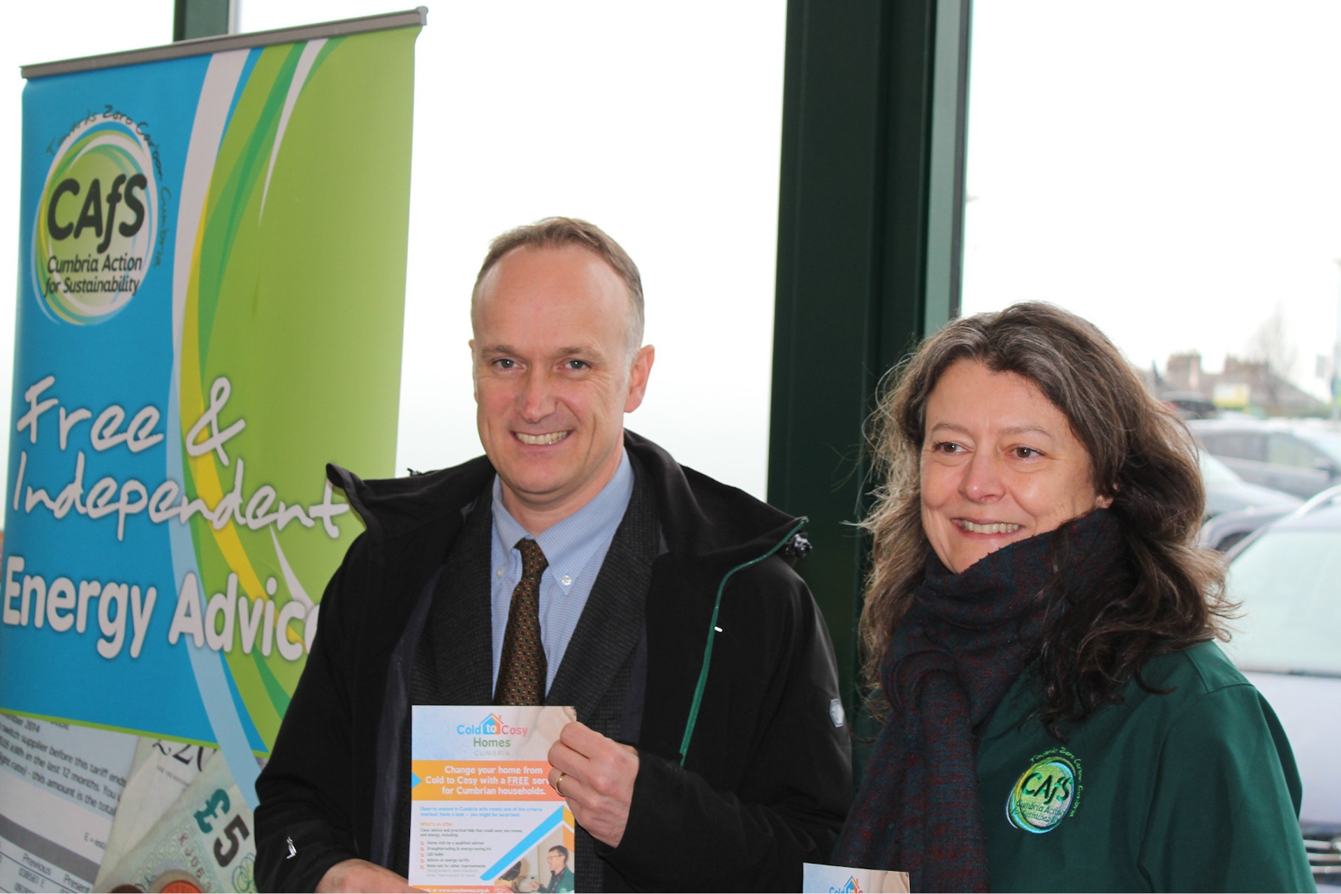 Neil Hudson MP with Karen Mitchell