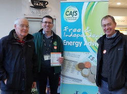 Tim Farron MP with Andrew for Cold to Cosy