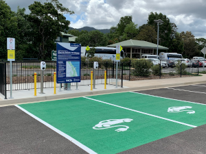 electric vehicle charging space
