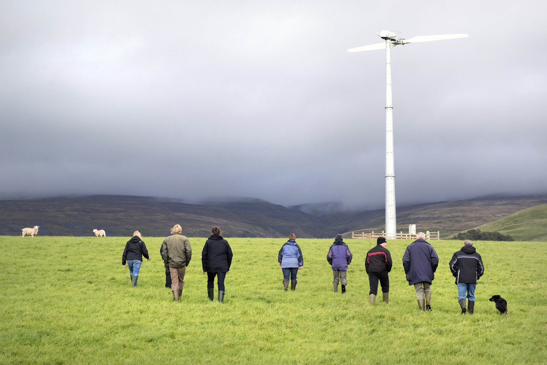 A visit to a Cumbrian windfarm - Photo by Jo Leary
