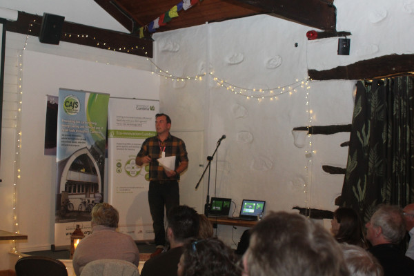 A speaker giving a talk