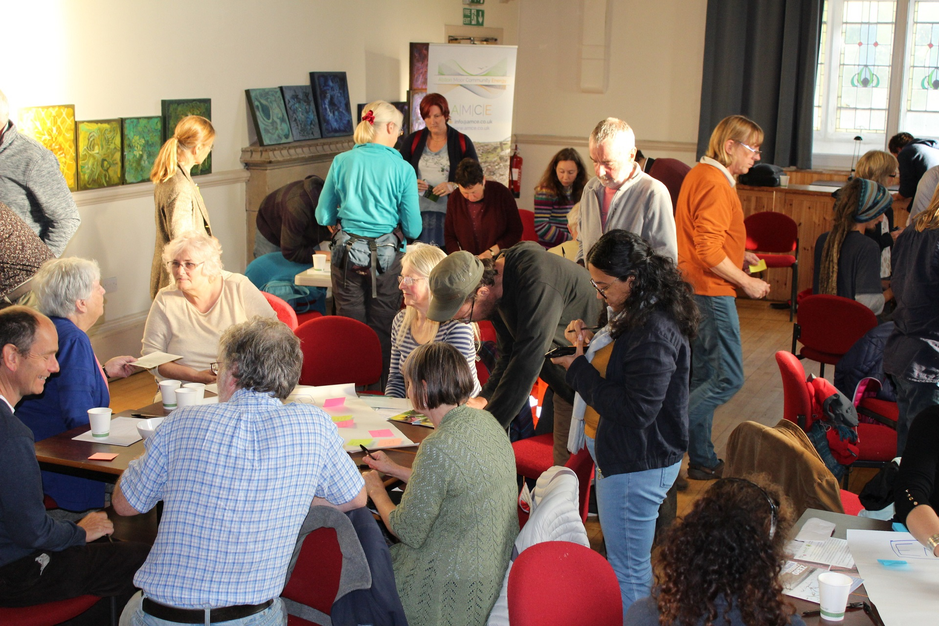 People discussing the future of Alston Moor during the Greenprint Convergence event by CAfS
